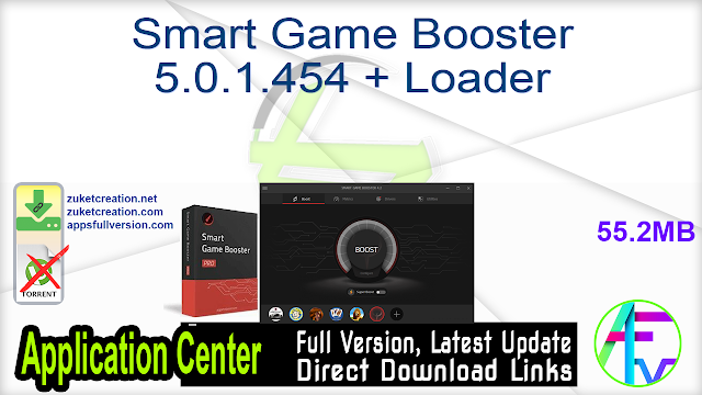 Smart Game Booster 5.0.1.454 + Loader