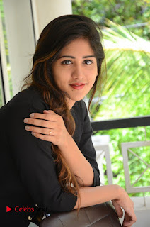 Actress Chandini Chowdary Pictures in Black Jeans at Interview  0223.JPG