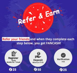 [Earn Huge] Fantain App- ₹100 On Signup+ Free Leagues   Guaranteed ₹500 Win