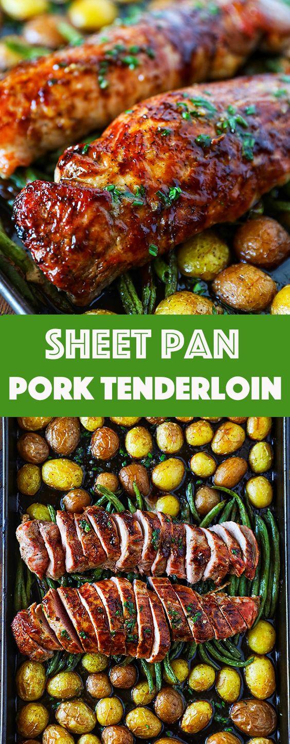PORK TENDERLOIN RECIPE EASY SHEET PAN DINNER - EAT