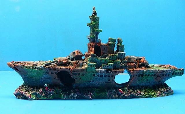 Damaged-Navy-War-Boat-Mini-Ship