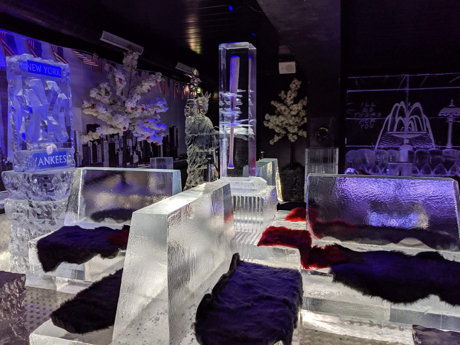 The Ice Bar at STACK Newcastle Review - ice seating