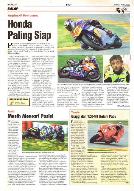 MENJELANG GP MOTOR JEPANG HONDA PALING SIAP