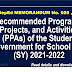 Recommended Programs, Projects, and Activities (PPAs) of the Student Government for School Year (SY) 2021-2022 DepEd Memorandum No. 55, s. 2021