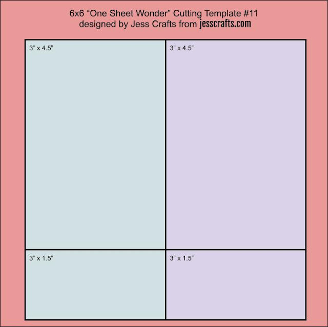 One Sheet Wonder Template #11 by Jess Crafts