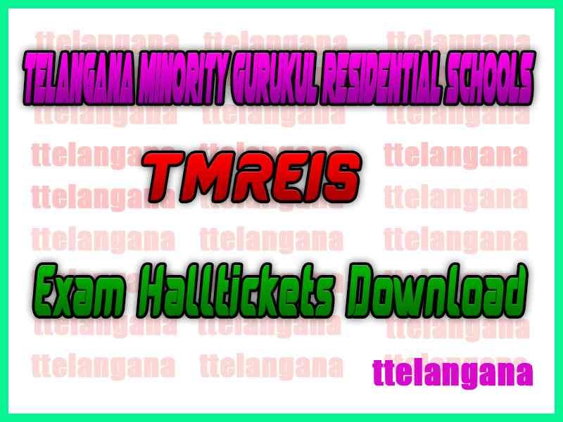 Telangana Minority Gurukul Residential Schools 5th 6th 8th Class Halltickets Download