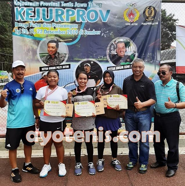 Kejurprov Tenis Jatim: Usi Juara Tunggal Putri KU 21