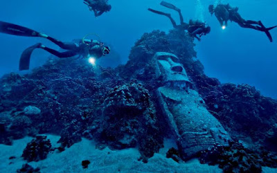 """The Submerged Moai"", Rapa Nui Island, Chile."