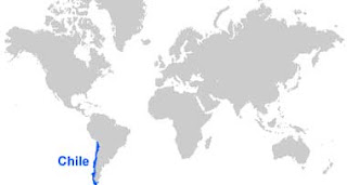 Gambar Peta letak Chili
