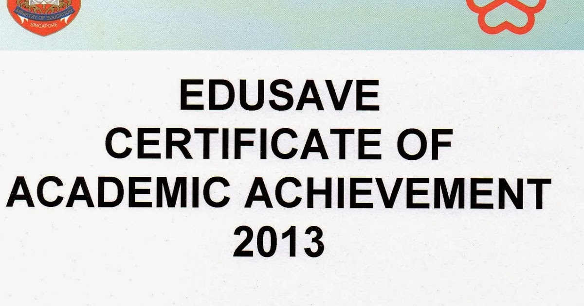 end of p1 certificate of academic achievement