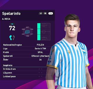 PES 2020 Faces Arkadiusz Reca by Emilang