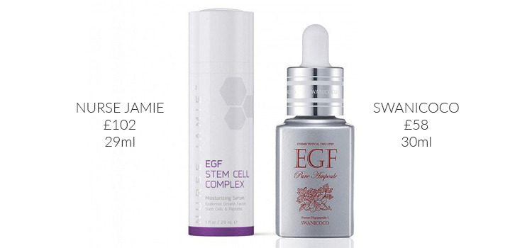 korean-skincare-dupes-nurse-jamie-egf-swanicoco-comparison