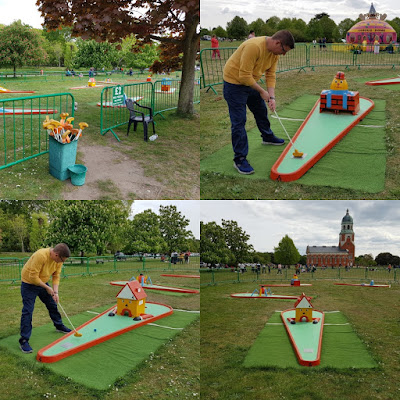 Crazy Golf at the Royal Victoria Country Park in Netley, Southampton.