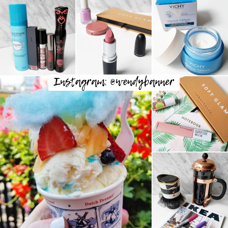 bbloggers, bblogger, bbloggerca, canadian beauty blogger, instagram, round up, instamonth, beauty, fashion, lifestyle, loccitane, l'occitane, aqua reotier, bite beauty, essence cosmetics, benefit, they're real, lash princess, mac, national lipstick day, aloof, vichy, aqualia thermal, ikea catalog, dutch dreams, ice cream, toronto, one scoop, birthday cake, fancy ice cream