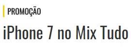 Promoção Mix Fm 2017 Mix Tudo Concorra iPhone 7