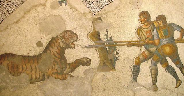 Venationes y cazadores en el Coliseo