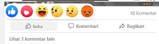 Fitur Reaksi Pada Facebook