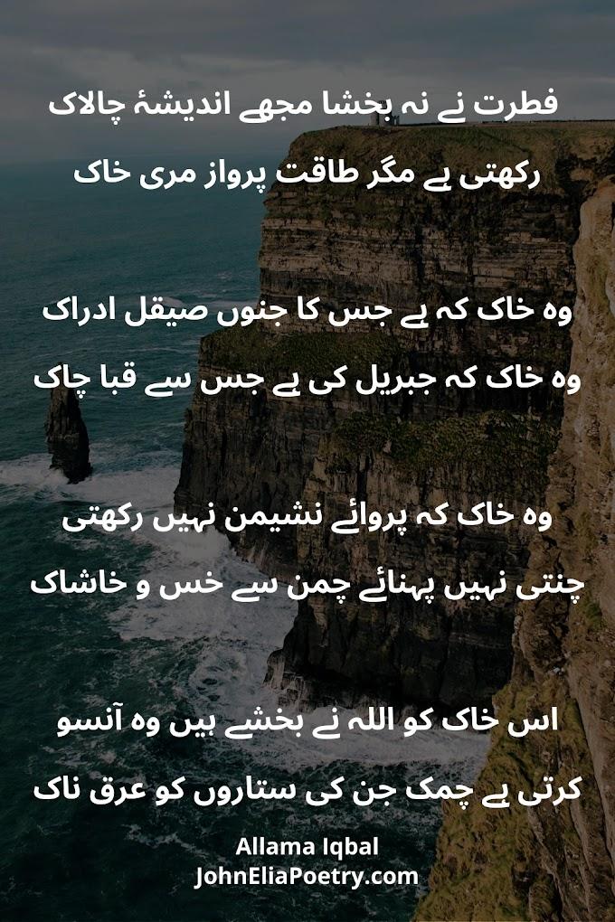 Fitrat Ne Nah Bakhsha Mujhe Andesha Chalaak | Allama Iqbal