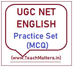 image: UGC NET English Practice Set-4 @ TeachMatters