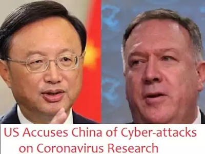 US Accuses China of Cyber-attacks on Coronavirus Research