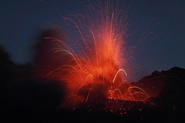 Photos of Volcano Eruption