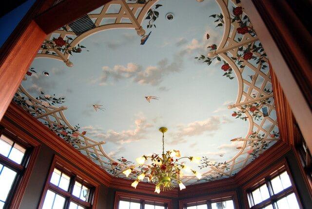 fresque de plafond