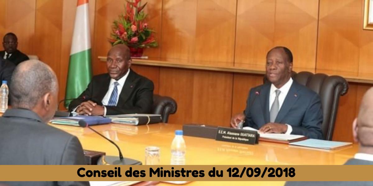 Projets de décrets récemment adoptés en Conseil des Ministres du 12/09/2018