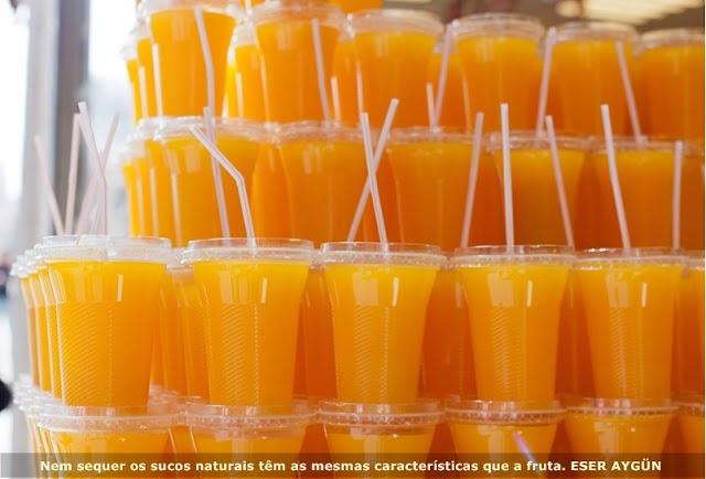 """Suco de fruta não é o mesmo que """"fruta"""" nem quando é caseiro"""