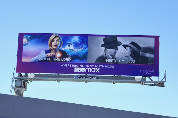 HBO Max Where Time Lord meets Timeless billboard