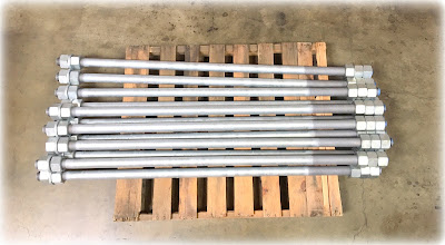 Custom Large Anchor Bolts - F1554 Grade 36 Material, Galvanized
