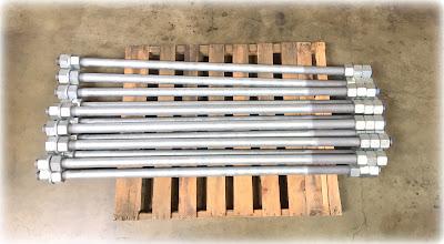 Custom Large Anchor Bolts - F1554 Grade 36 Material, Galvanized