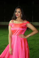 Actress Pujita Ponnada in beautiful red dress at Darshakudu music launch ~ Celebrities Galleries 044.JPG