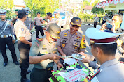 HUT TNI ke-74, Polres Sinjai Berikan Kejutan Kodim 1424 Sinjai
