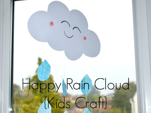 Happy Rain Cloud Craft For Kids