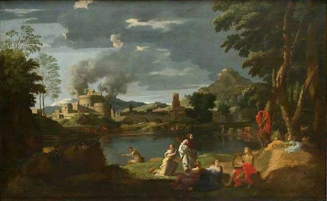 Nicolas Poussin - Orfeo y Euridice 1649-51