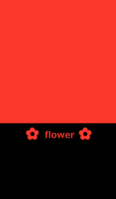 Red and flower