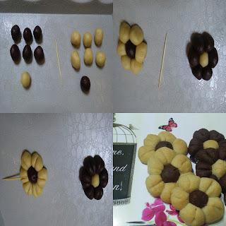 çiçek şeklinde kurabiye