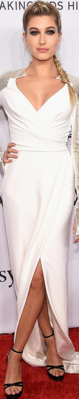 Hailey Baldwin in Pamella Roland 2016 amfAR Gala
