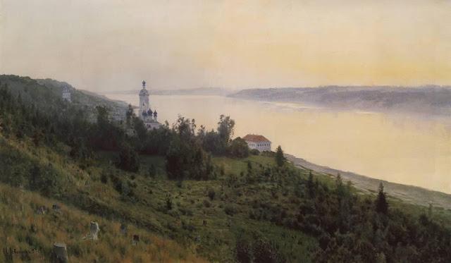 Исаак Ильич Левитан - Вечер. Золотой Плёс (2). 1889