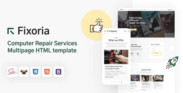 Best Computer Repair Services HTML5 Template