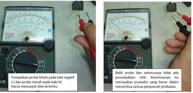 Cara Mengukur dan Menguji Komponen Dioda bridge