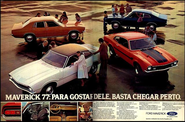 propaganda Maverick 77 - 1977.  propaganda anos 70. propaganda carros anos 70. reclame anos 70. Oswaldo Hernandez..