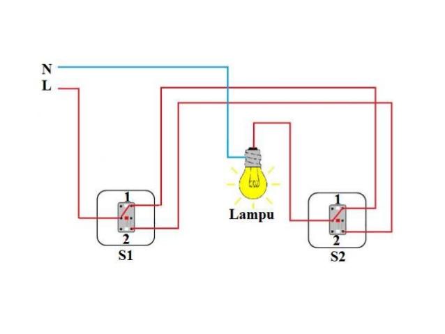 Wiring Diagram Saklar Lampu Listrik