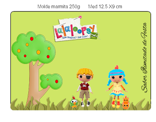 Etiquetas de Lalaloopsy en Verde para imprimir gratis.