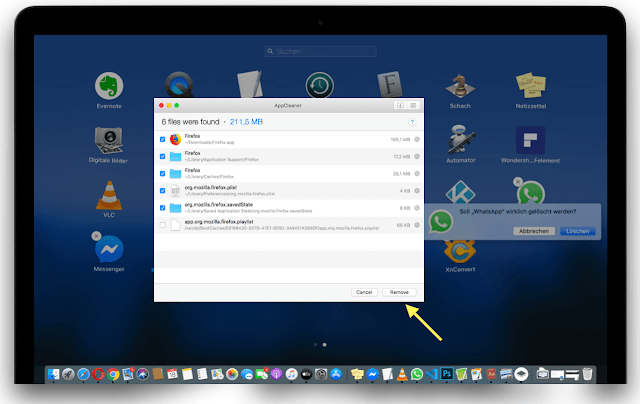 Download AppCleaner to uninstall apps from root on Mac