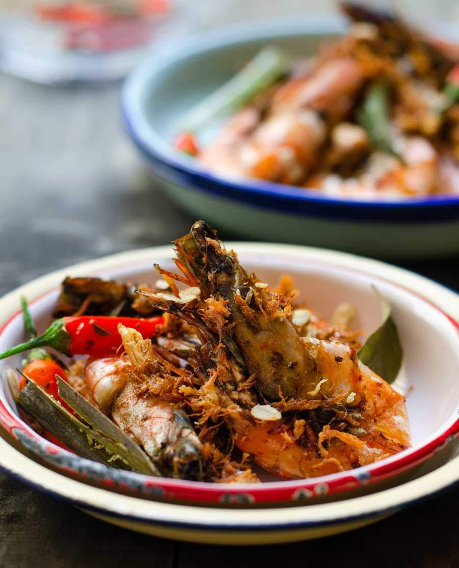 Asian butter prawns
