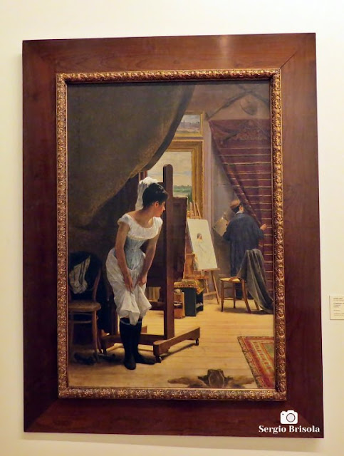 Close-up da Obra O Importuno - Pinacoteca de São Paulo - Luz - São Paulo