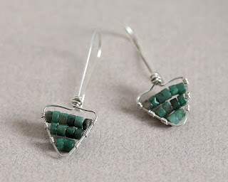 Hot Off The Bench - Sterling Silver Triangle Earrings