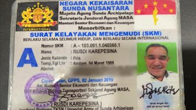 Pemobil Ngaku Jenderal Kekaisaran Sunda Nusantara, Siapa Kaisarnya?