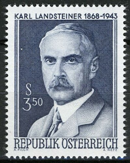 Austria 1968, Karl Landsteiner (1868-1943), bacteriologist